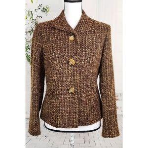 Jones New York Tweed Blazer Glitter Size 10P